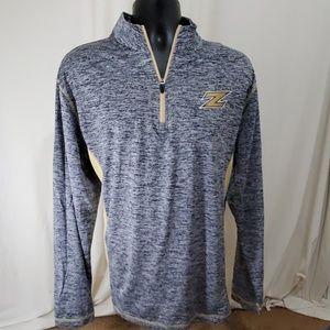 NWT RUSSELL Akron Purple Sweatshirt Size Larg